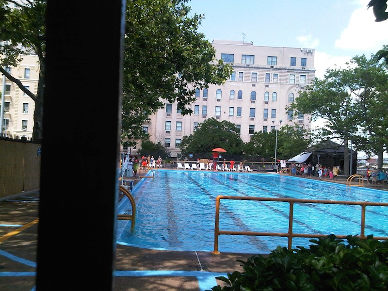 public pool in John Jay Park